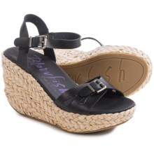 Blowfish Drive-In Wedge Sandals (For Women) in Black - Closeouts