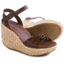 Blowfish Drive-In Wedge Sandals (For Women) in Whiskey - Closeouts