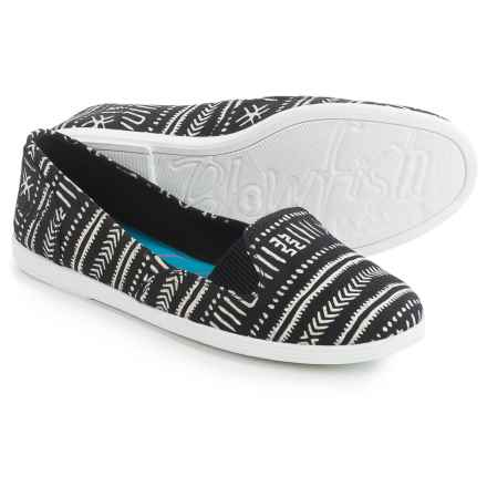 Blowfish Gillie Flats - Canvas (For Women) in Black - Closeouts
