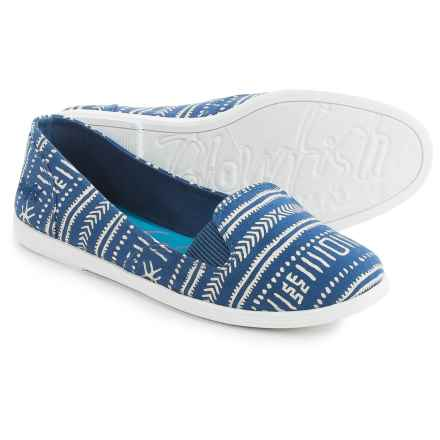 Blowfish Gillie Flats - Canvas (For Women) in Denim - Closeouts