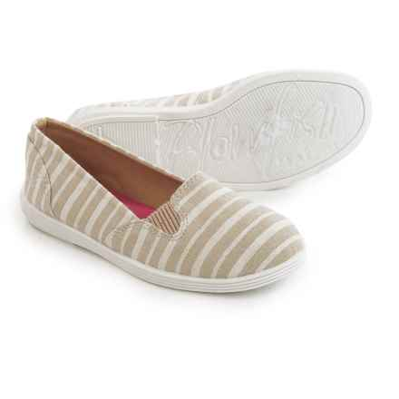 Blowfish Gillie Slip-On Shoes (For Little and Big Girls) in Natural Caicos Stripe Linen - Closeouts