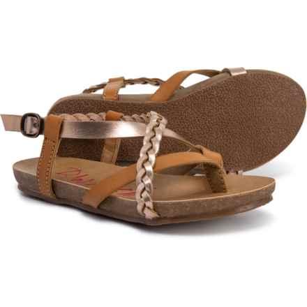 Blowfish Glamor Sandals (For Girls) in Rose Gold/Desert Sand - Closeouts