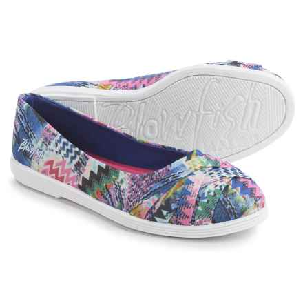 Blowfish Glo Shoes - Slip-Ons (For Little and Big Girls) in Blue Banyan Print - Closeouts