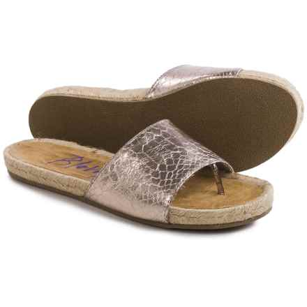 Blowfish Glore Sandals - Slip-Ons (For Women) in Pewter Metallic - Closeouts