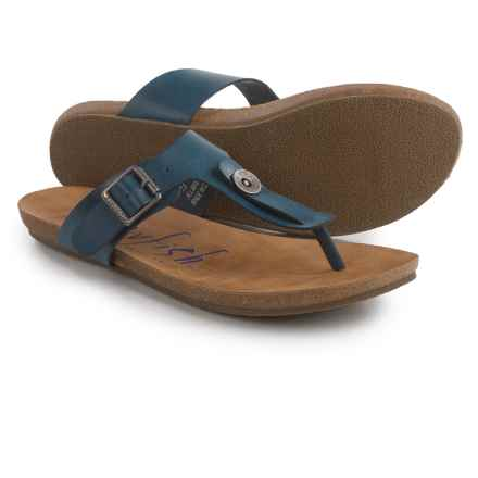 Blowfish Greco Thong Sandals (For Women) in Indigo - Closeouts