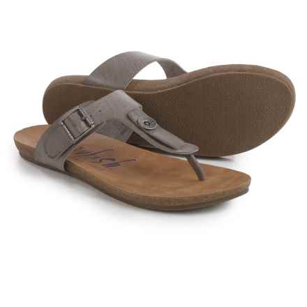 Blowfish Greco Thong Sandals (For Women) in Steel Grey - Closeouts