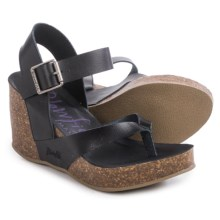 Blowfish Hiram Wedge Sandals (For Women) in Black - Closeouts