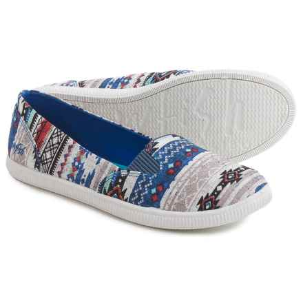Blowfish Jalen Shoes - Slip-Ons (For Women) in Blue Totem Tribal Print - Closeouts