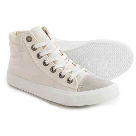 Blowfish Madras Sneakers (For Women) in White Color Washed Canvas - Closeouts