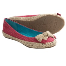 Blowfish Nagoa Flats (For Women) in Red Cozumel Linen - Closeouts