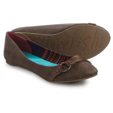 Blowfish Nini Ballet Flats - Vegan Leather (For Women) in Coffee Texas - Closeouts