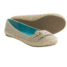 Blowfish Priscilla Flats (For Women) in Natural Cozumel Linen - Closeouts