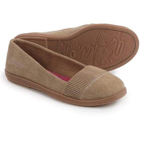 Blowfish Sand-Blasted Canvas Flats (For Little and Big Girls) in Natural Sand Blasted