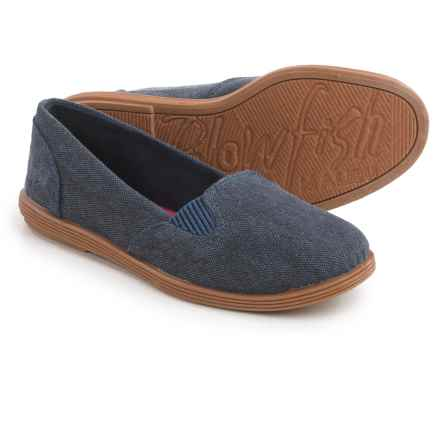 Blowfish Sand-Blasted Canvas Flats (For Little and Big Girls) in Navy - Closeouts