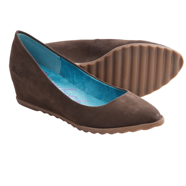 Blowfish Silvia Shoes - Wedge Heel (For Women) in Dark Brown Fawn
