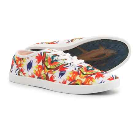 Blu Kicks Charlie Canvas Sneakers (For Women) in Floral - Closeouts