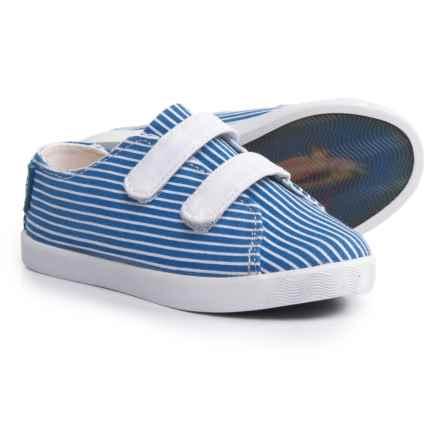 Blu Kicks Panama Stripe Sneakers (For Infants and Toddlers) in Blue Stripe - Closeouts