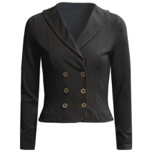 Blue Canoe Double-Breasted Jacket - Shawl Collar (For Women) in Black - Closeouts