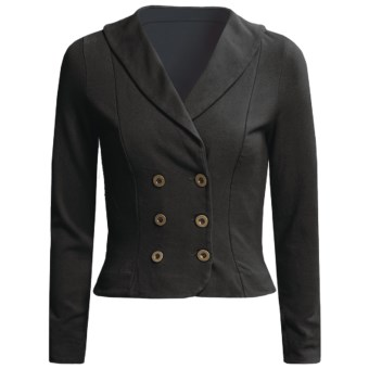 Blue Canoe Double-Breasted Jacket - Shawl Collar (For Women) in Black