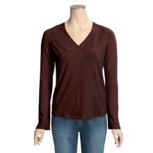 Blue Canoe Raglan Hoodie Shirt - Organic Cotton (For Women) in Cognac - Closeouts
