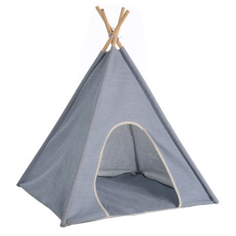 Image of Blue Canvas Pet Teepee