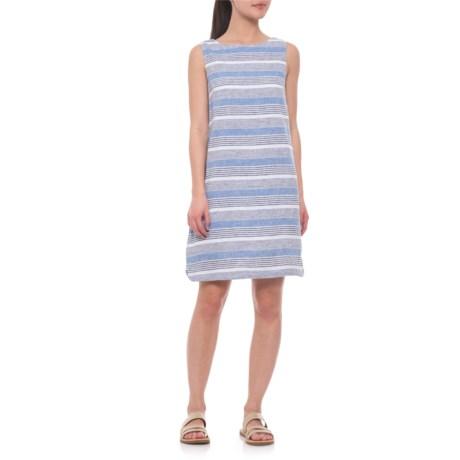 Image of Blue Chips Alina Dress - Linen, Sleeveless (For Women)