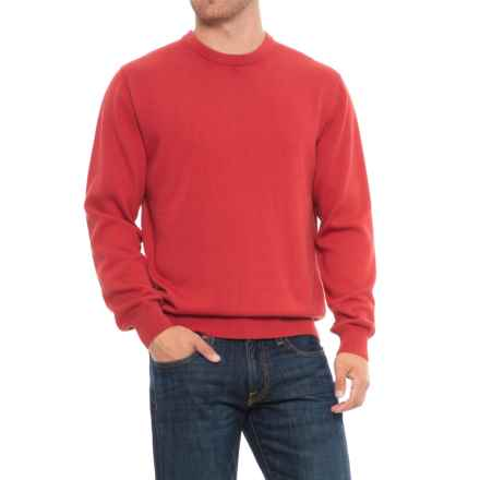 Blue Crew Neck Contrast Sweater (For Men) in Barn Red - Overstock