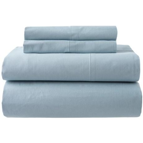 Image of Blue Fog Organic Cotton Sheet Set - Queen, 200 TC