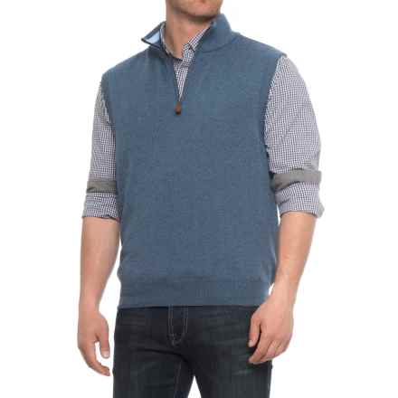 Blue Gents Vest - Zip Neck (For Men) in Dark Denim - Overstock