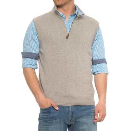 Blue Gents Vest - Zip Neck (For Men) in Grey - Overstock