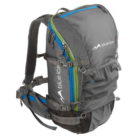 Blue Ice Mountaineering White Tiger 35L Backpack - Internal Frame (For Men and Women) in Grey