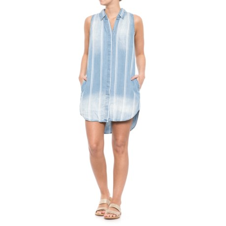 Blue Island Shirtdress Cover-Up - Sleeveless (For Women) in Light Blue