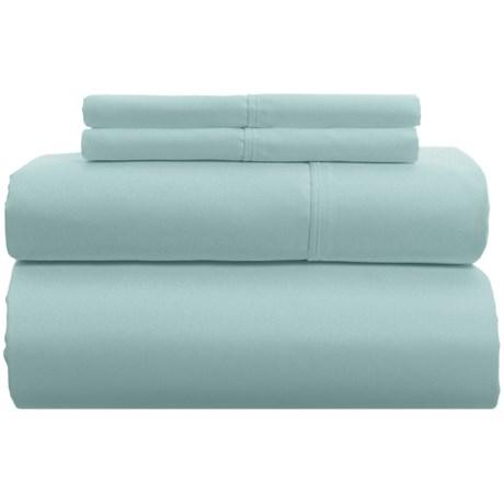 Image of Blue Long-Staple Cotton Sheet Set - Queen, 500 TC