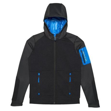 Image of Blue Match Fleece Hoodie (For Big Boys)