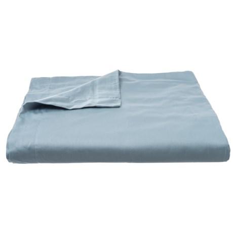 Image of Blue Organic Cotton Sateen Duvet Cover - King