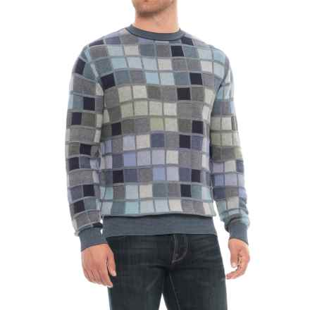 Blue Parquet Sweater (For Men) in New Navy - Closeouts