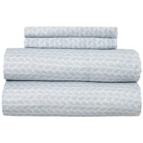 Image of Blue Pearl Braid Sheet Set - Full