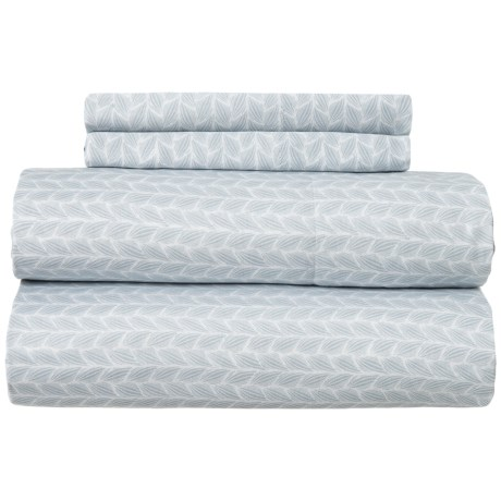 Image of Blue Pearl Braid Sheet Set - Queen