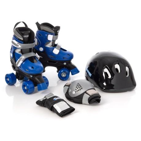Image of Blue Quad Skate Combo Set