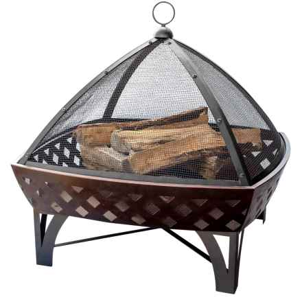 "Blue Rhino Steel Base Bronze Fire Pit - 30"" in Bronze - Closeouts"