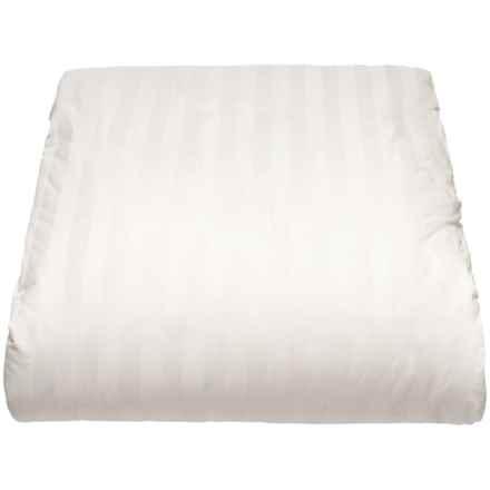 Blue Ridge Home Fashions 2cm Stripe 50/50 Down Comforter - Full-Queen, 500 TC in White - Closeouts
