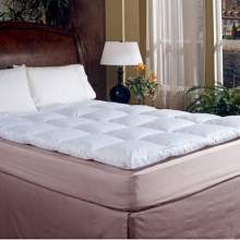 Blue Ridge Home Fashions Classic Down Featherbed - King, 233 TC in White - Overstock