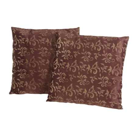 "Blue Ridge Home Fashions Classic Throw Pillows -18x18"", 2-Pack in Chocolate - Closeouts"