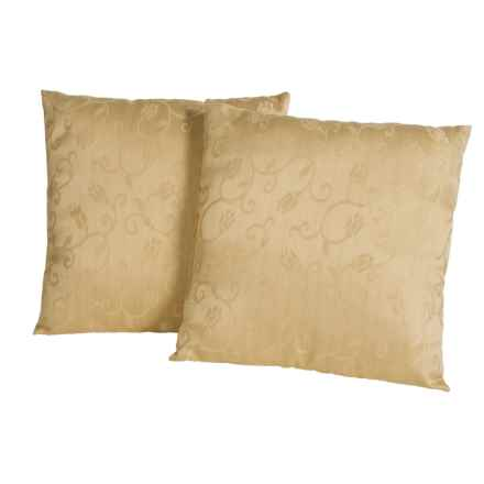 "Blue Ridge Home Fashions Classic Throw Pillows -18x18"", 2-Pack in Gold - Closeouts"
