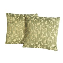 "Blue Ridge Home Fashions Classic Throw Pillows -18x18"", 2-Pack in Olive - Closeouts"