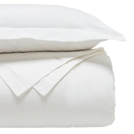 Blue Ridge Home Fashions Damask Alt-Down Comforter Set - Full-Queen, 230 TC in White