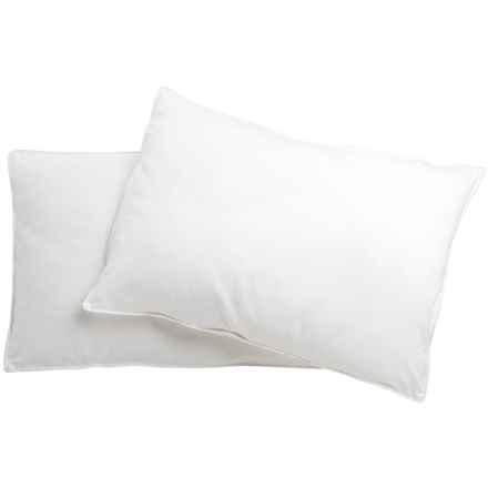 Blue Ridge Home Fashions Damask Down-Alternative Pillow - 300 TC, Jumbo, 2-Pack in White - Closeouts