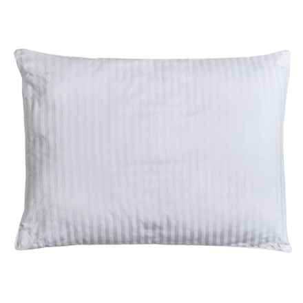 Blue Ridge Home Fashions Damask Stripe Down Alternative Pillow - Jumbo, 300 TC in White - Closeouts