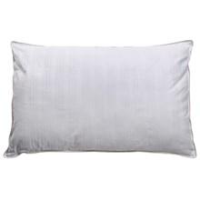 Blue Ridge Home Fashions Damask Stripe Duraloft Pillow - Jumbo, 300 TC Cotton in White - Closeouts