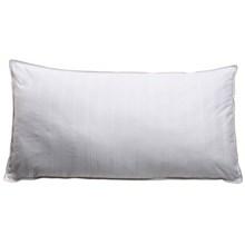 Blue Ridge Home Fashions Damask Stripe Duraloft Pillow - King, 300 TC Cotton in White - Closeouts